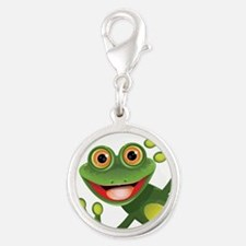 Happy Green Frog Charms