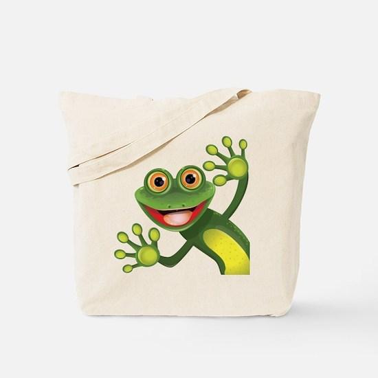 Happy Green Frog Tote Bag