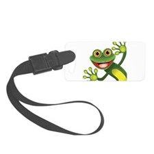 Happy Green Frog Luggage Tag