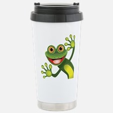 Happy Green Frog Travel Mug