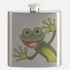 Happy Green Frog Flask