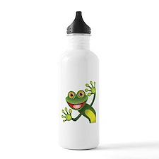 Happy Green Frog Water Bottle