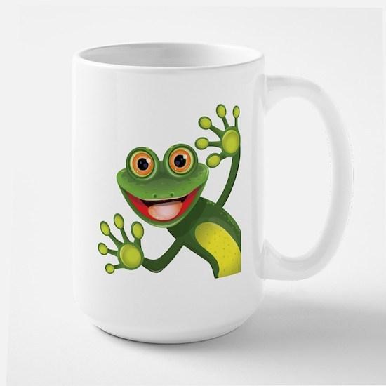 Happy Green Frog Mugs