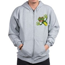 Happy Green Frog Zip Hoodie