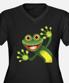 Happy Green Frog Plus Size T-Shirt