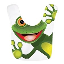Happy Green Frog Bib