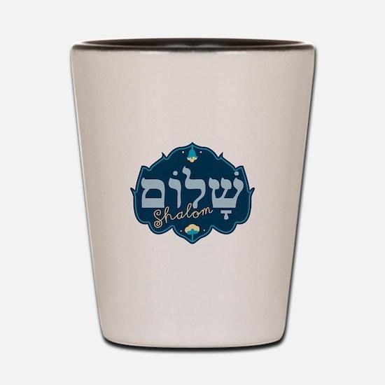 Shalom Shot Glass