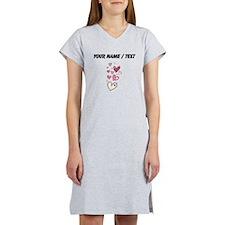 Custom Floating Hearts Women's Nightshirt
