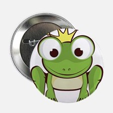 """Frog Prince 2.25"""" Button (10 pack)"""