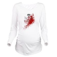 Cute Keep calm blood splatter Long Sleeve Maternity T-Shirt