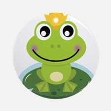Frog Princess Ornament (Round)