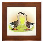 African Geese2 Framed Tile