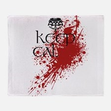 Cute Keep calm and kill zombies Throw Blanket