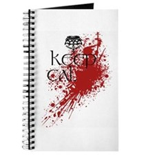 Cute Keep calm blood splatter Journal