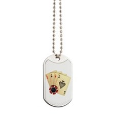 Poker - 4 Aces Dog Tags