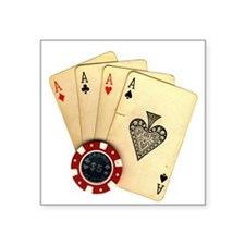 Poker - 4 Aces Sticker
