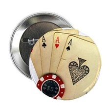 "Poker - 4 Aces 2.25"" Button (100 pack)"