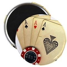 Poker - 4 Aces Magnets