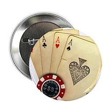 """Poker - 4 Aces 2.25"""" Button"""