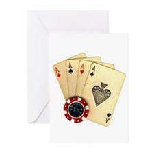 Poker - 4 Aces Greeting Cards