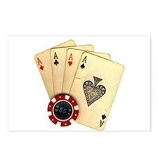 Poker - 4 Aces Postcards (Package of 8)
