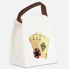 Poker - 4 Aces Canvas Lunch Bag