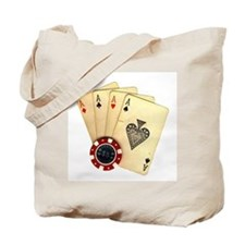 Poker - 4 Aces Tote Bag