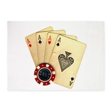 Poker - 4 Aces 5'x7'Area Rug