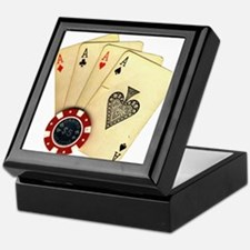 Poker - 4 Aces Keepsake Box