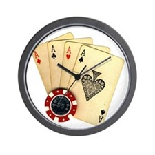 Poker - 4 Aces Wall Clock