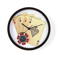 Poker - 4 Aces Wall Clock