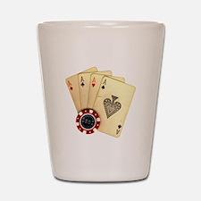 Poker - 4 Aces Shot Glass