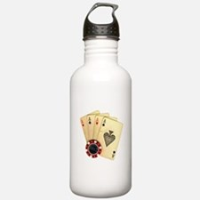 Poker - 4 Aces Water Bottle