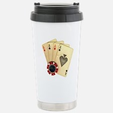 Poker - 4 Aces Travel Mug