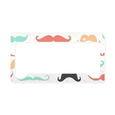 Mustache License Plate Holder