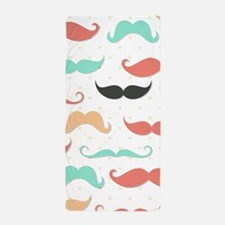 Mustache Beach Towel