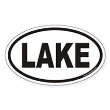 LAKE Euro Oval Decal