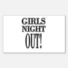Girls Night Out Rectangle Decal