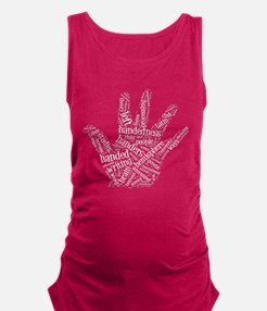 Left Handed Wordle Maternity Tank Top