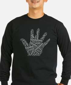 Left Handed Wordle Long Sleeve T-Shirt