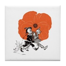 Vintage Wizard of Oz Poppy Field Espace Tile Coast