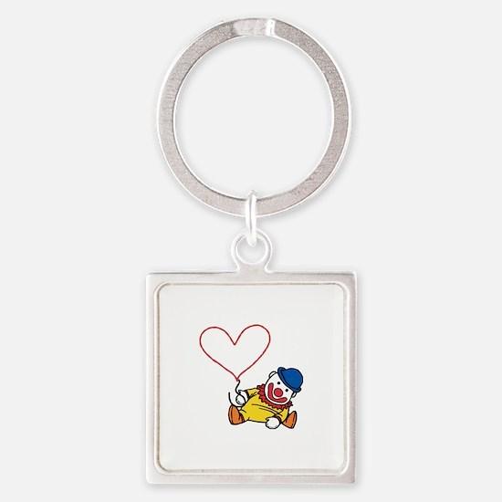 Clown Heart Caption Keychains