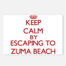 Keep calm by escaping to Zuma Beach California Pos