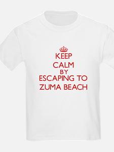 Keep calm by escaping to Zuma Beach California T-S