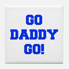 GO-DADDY-GO-FRESH-BLUE.png Tile Coaster