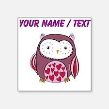 Custom Purple Love Owl Sticker
