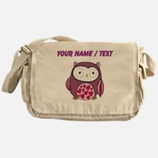 Custom Purple Love Owl Messenger Bag