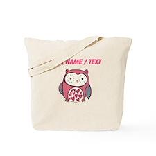 Custom Red Love Owl Tote Bag