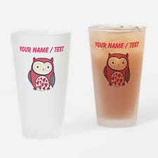 Custom Red Love Owl Drinking Glass