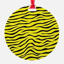 Bright Neon Yellow and Black Animal Print Zebra St